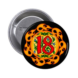 18th Birthday Party Button