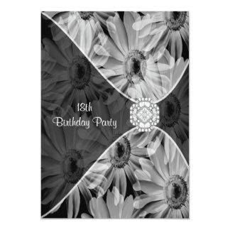 18th Birthday Party Daisy Diamond Invitation