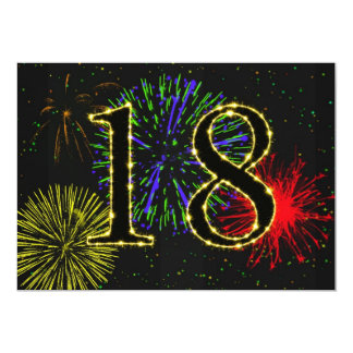 18th birthday party invitate 5x7 paper invitation card