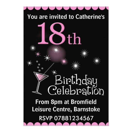 18th Birthday Party Invitation Zazzlecom