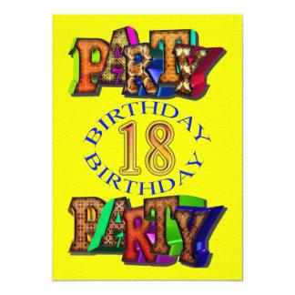 18th birthday party invitation