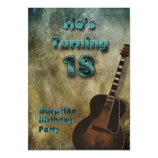 18th Birthday Party Invitation - Brown/Teal/Male