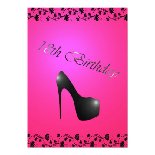 """18th Birthday Party Invitation For Girls 5"""" X 7"""