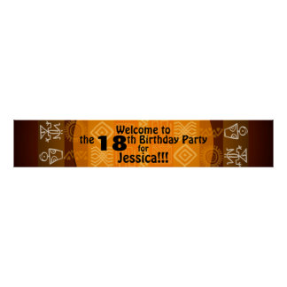 18th Birthday Party Personalized Banner 60x11 Poster