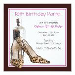 18th Birthday Party Shoes Invitation 13 Cm X 13 Cm Square Invitation Card