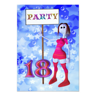 18th Birthday party sign board invitation