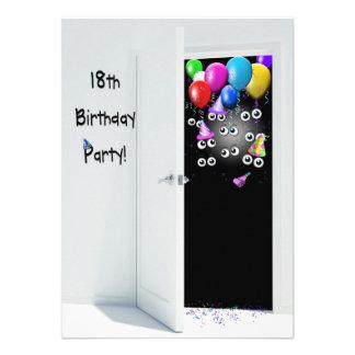 18th Birthday Party Surprise Custom Invitation