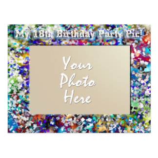18th Birthday Party Template Postcards