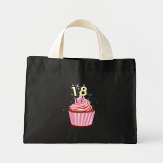 18th Birthday - Pink Cupcake Tote Bags