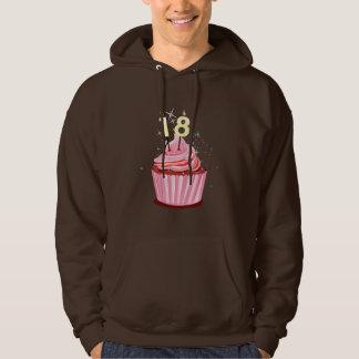 18th Birthday - Pink Cupcake Hoodie