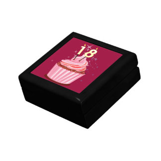 18th Birthday - Pink Cupcake Jewelry Box