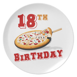 18th Birthday Pizza Party Plate