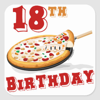 18th Birthday Pizza Party Sticker