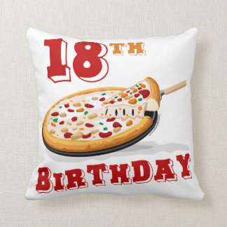 18th Birthday Pizza Party Throw Pillow