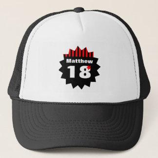 18th Birthday Red Black Stripes and Star R11Z Trucker Hat