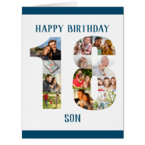 18th Birthday Son Number 18 Photo Collage Big