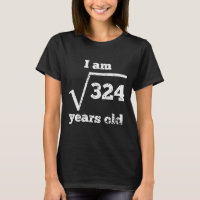 18th Birthday Square Root T-Shirt