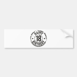18TH BIRTHDAY STAMP EFFECT BUMPER STICKER