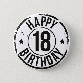 18TH BIRTHDAY STAMP EFFECT PINBACK BUTTON