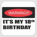 18th Birthday Stickers