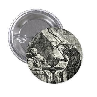 18th C. Grim Reaper Visit Pinback Button