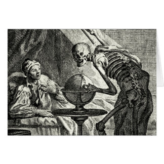 18th C. Grim Reaper Visit Card