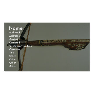 18th century cross-bow, Malbork, Poland Double-Sided Standard Business Cards (Pack Of 100)