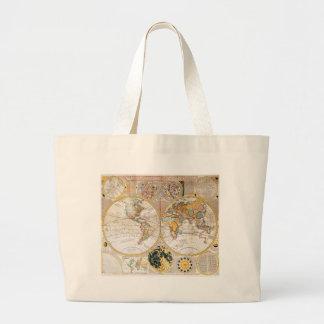 18th Century Dual Hemisphere Map Tote Bags