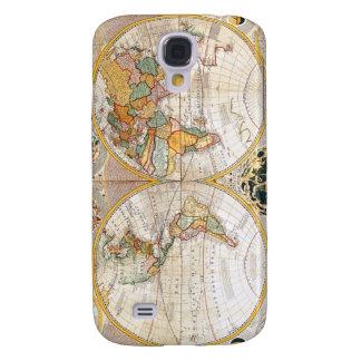 18th Century Dual Hemisphere Map Samsung Galaxy S4 Case
