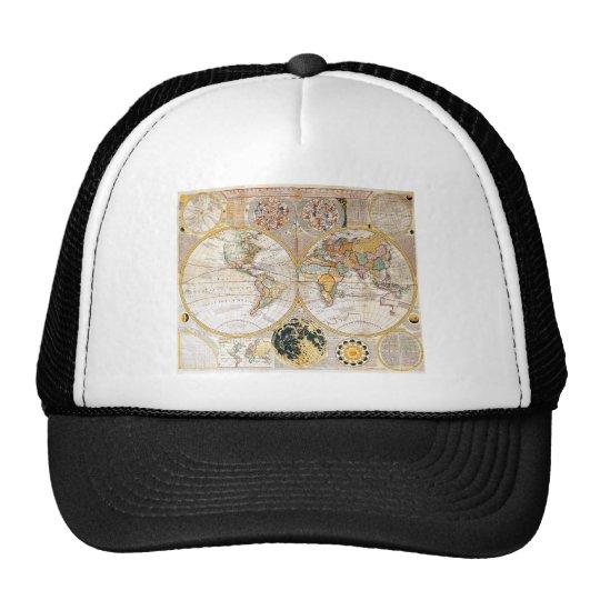 18th Century Dual Hemisphere Map Trucker Hat