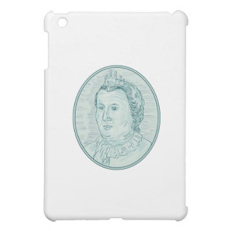 18th Century European Empress Bust Oval Drawing Cover For The iPad Mini