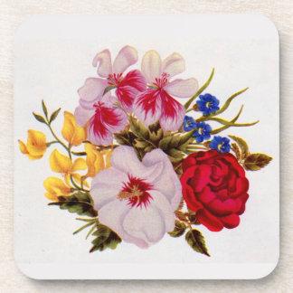 18th century flower bouquet flower arrangement beverage coaster