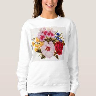 18th century flower bouquet flower arrangement sweatshirt