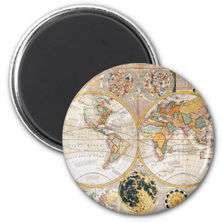 18th Century Map 2 Inch Round Magnet