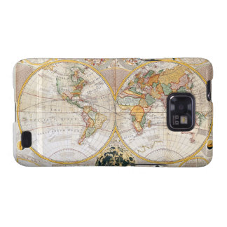 18th Century Map Galaxy SII Cases