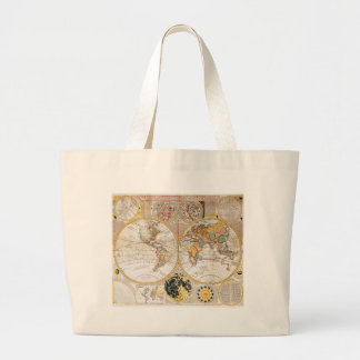18th Century Map Large Tote Bag