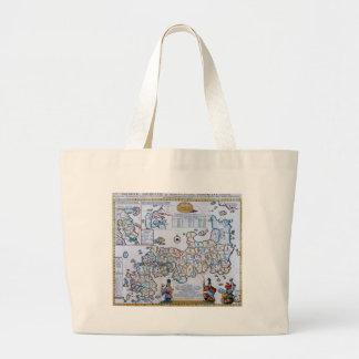 18th Century Map of Japan Large Tote Bag