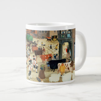 18th century Mayfair cattle market Large Coffee Mug