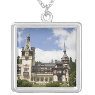 18th Century Peles Castle, Sinaia, Romania, Silver Plated Necklace