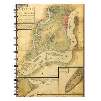 18th Century Philadelphia Map Notebook