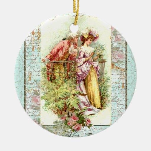 18th Century Romantic Christmas Ornament