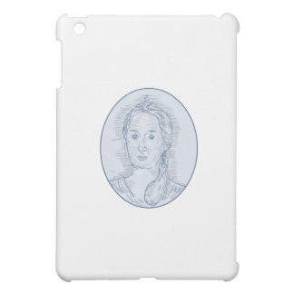 18th Century Russian Empress Bust Oval Drawing Cover For The iPad Mini