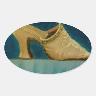 18th Century Shoe Oval Sticker