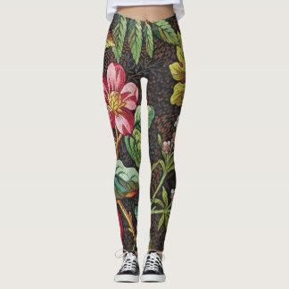 18th Century textile design of flowers. Leggings