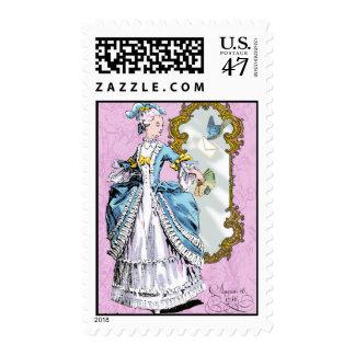 18th Century Vintage Style Costume Lady Postage