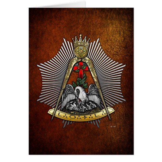 18th Degree: Knight of the Rose Croix Card