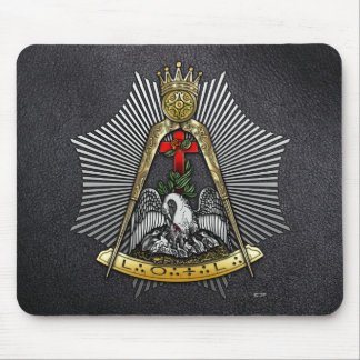 18th Degree: Knight of the Rose Croix Mouse Pads