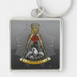 18th Degree: Knight of the Rose Croix Silver-Colored Square Keychain