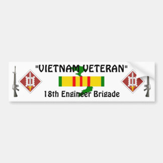 18th Engineer Brigade bumper sticker