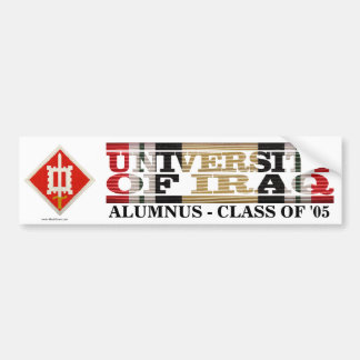 18th Engineer Brigade U of Iraq Alumnus Sticker
